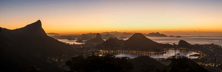 View from Chinese Pavilion, Rio de Janeiro, Brazil by Panoramic Images art print