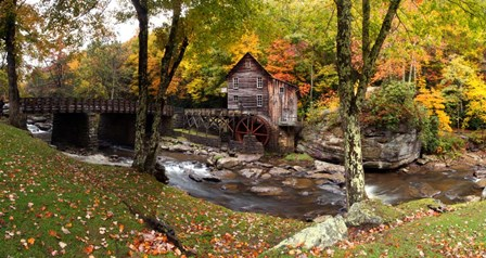 Glade Creek Grist Mill, West Virginia by Panoramic Images art print