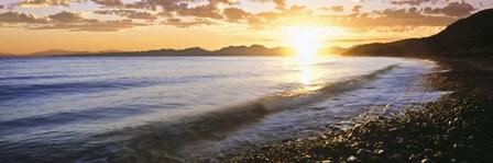 Windan Sea Beach at Sunrise, La Jolla, San Diego County, California by Panoramic Images art print