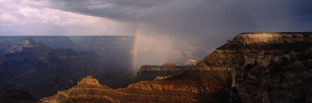 Monsoon and Rainbow, Grand Canyon, Arizona by Panoramic Images art print