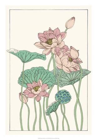 Botanical Gloriosa Lotus I by Melissa Wang art print