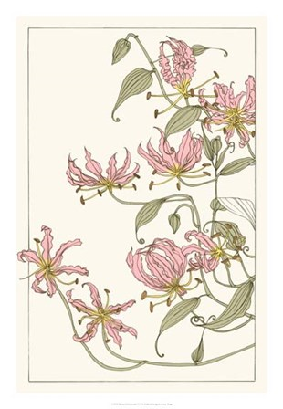 Botanical Gloriosa Lily I by Melissa Wang art print