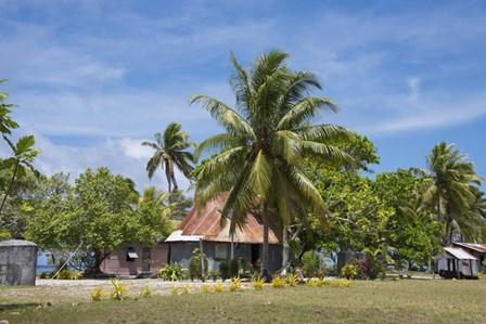 Fiji, Southern Lau Group, Island of Fulanga. Village of Fulanga. Typical village home. by Cindy Miller Hopkins / Danita Delimont art print