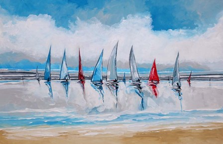Boats I by Stuart Roy art print