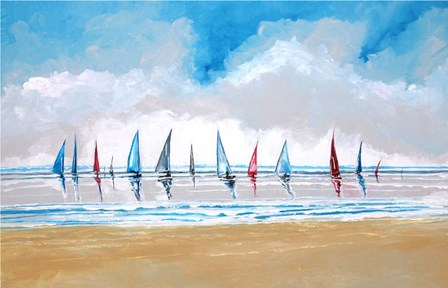 Boats V by Stuart Roy art print