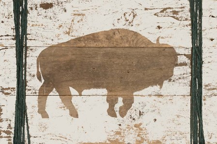 Buffalo in Reverse by Ramona Murdock art print