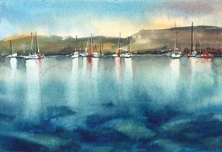 Boat Reflections by Sophia Rodionov art print