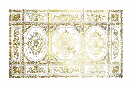Gold Foil Ceiling Design art print