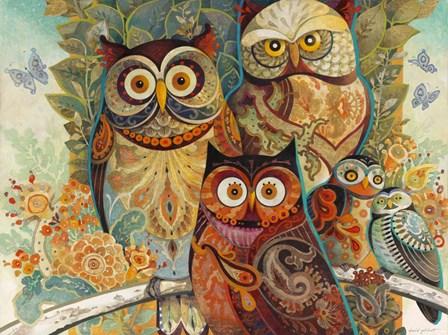 Owls by David Galchutt art print