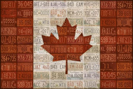 Canada License Plate Flag by Design Turnpike art print