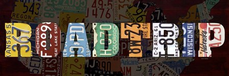 Road Trip Lettering by Design Turnpike art print