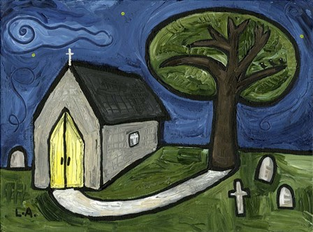 Church by Cherry Pie Studios art print