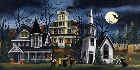 Halloween Kids by Debbi Wetzel art print