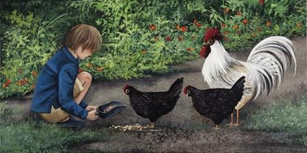 Feeding Ralphie by Debbi Wetzel art print