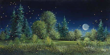 Fireflies by Debbi Wetzel art print