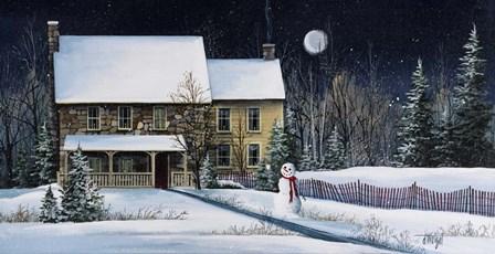 Winter Cottage by Debbi Wetzel art print