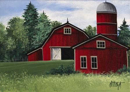 Red Barn by Debbi Wetzel art print