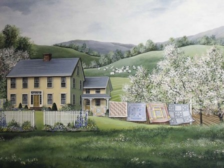 Spring House by Debbi Wetzel art print