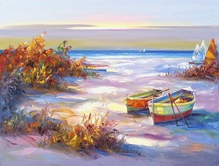 Boats On The Beach by Edward Park art print