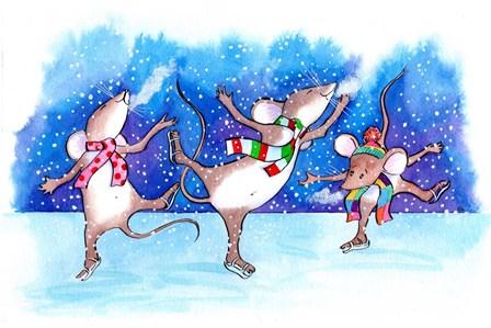 Mice Skating by Emma Graham art print