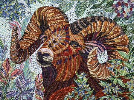 Aries by Erika Pochybova art print