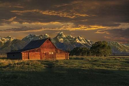 Moulton Barn Sunrise by Galloimages Online art print