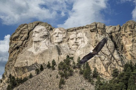 Mount Rushmore And Eagle by Galloimages Online art print
