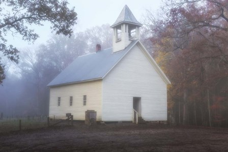 Primitive Baptist Church Fog by Galloimages Online art print