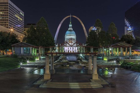 St. Louis At Night by Galloimages Online art print