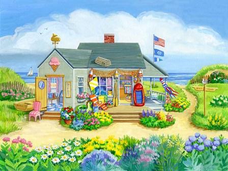 Beach Store by Geraldine Aikman art print