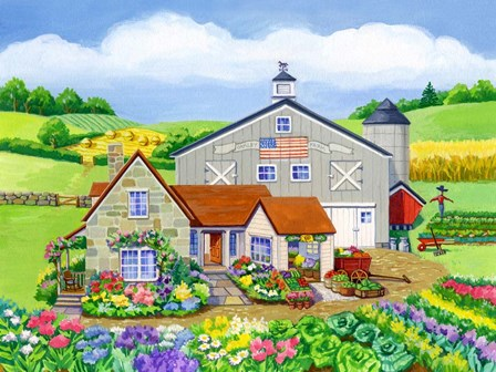Oakley Farm by Geraldine Aikman art print