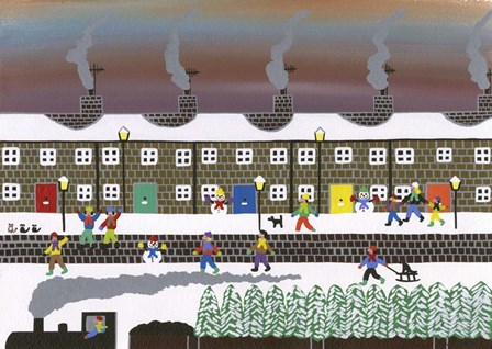 Train Station by Gordon Barker art print