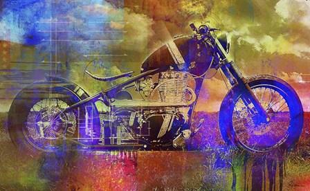 Bobber Moto by Greg Simanson art print