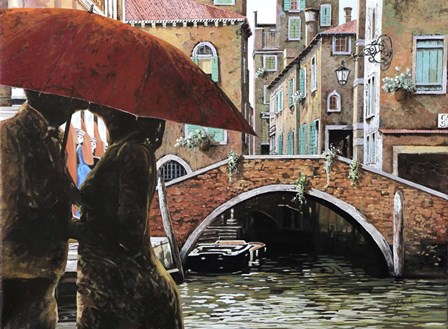 Baci tra le Calli by Guido Borelli art print