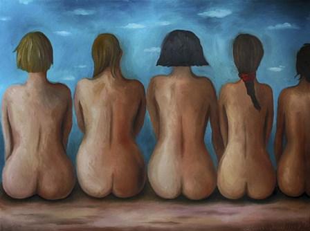 Beach Bums by Leah Saulnier art print