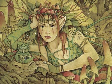 Bogwood by Linda Ravenscroft art print