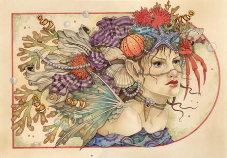 Ocean ID by Linda Ravenscroft art print