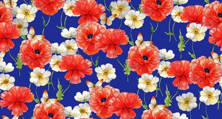 Poppies (Pattern) by Maria Rytova art print