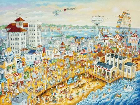Ocean City Summer by Bill Bell art print