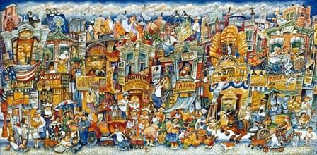 Street Scene by Bill Bell art print