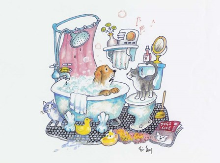 Bubbles On The Head by Bill Bell art print