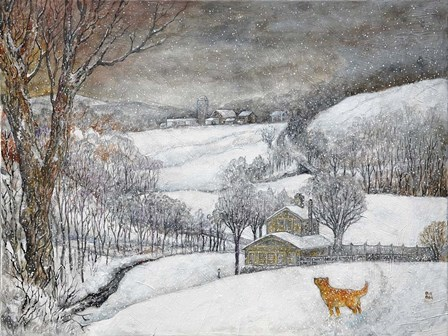Daisy's First Snow by Bill Bell art print
