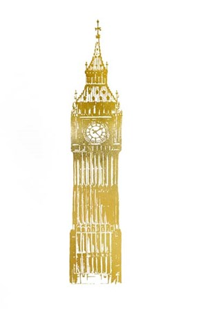 Gold Foil Big Ben by Vision Studio art print