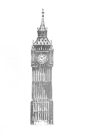 Silver Foil Big Ben by Vision Studio art print
