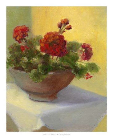 Tuscan Geraniums by Mary Jean Weber art print