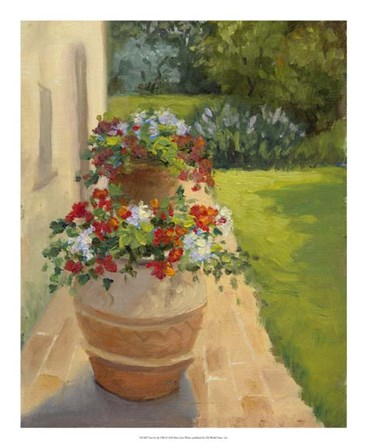 Urns by the Villa by Mary Jean Weber art print