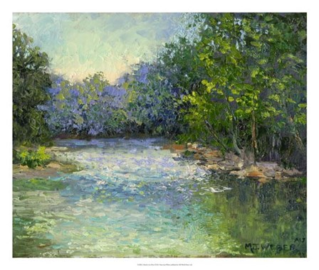 A Bend in the River by Mary Jean Weber art print