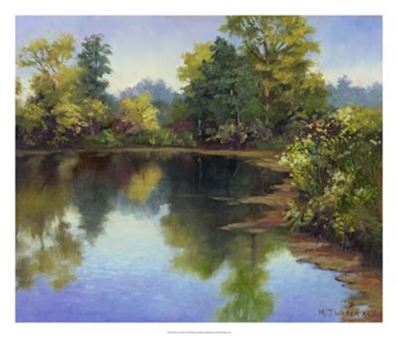 Summer Pond by Mary Jean Weber art print