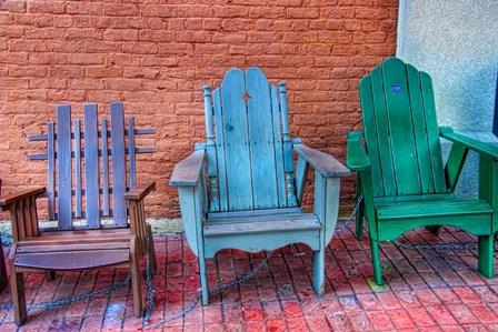 three chairs by Bob Rouse art print