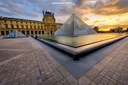Louvre by Mathieu Rivrin art print